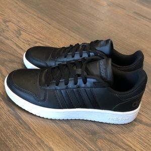 Adidas Black and White Court Sneakers